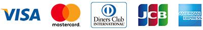クレジットカードマーク|VISA/MASTER/DINERS/JCB/AMEX